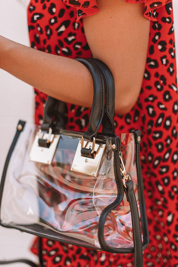Sweet Victory Transparent Purse In Black