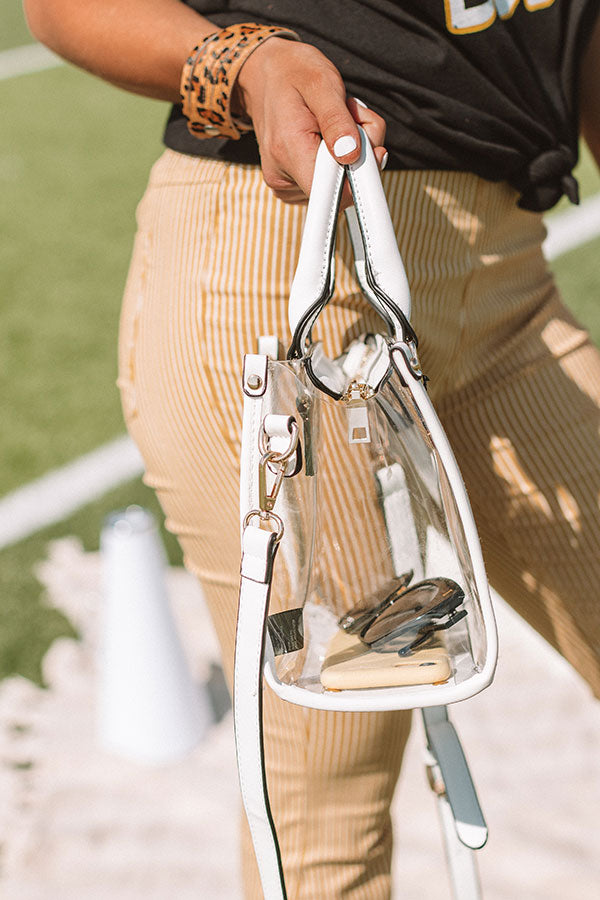 Sweet Victory Transparent Purse In White