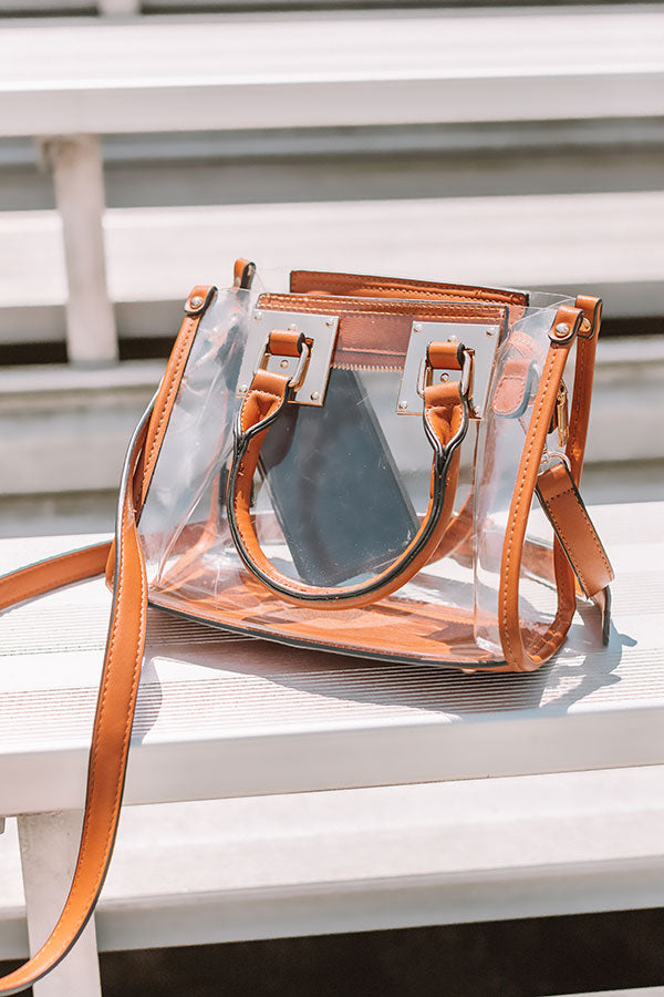 Sweet Victory Transparent Purse In Maple