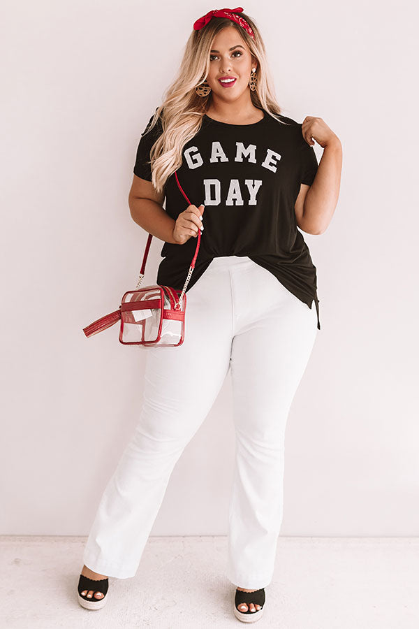 Game Day Boyfriend Tee In Black
