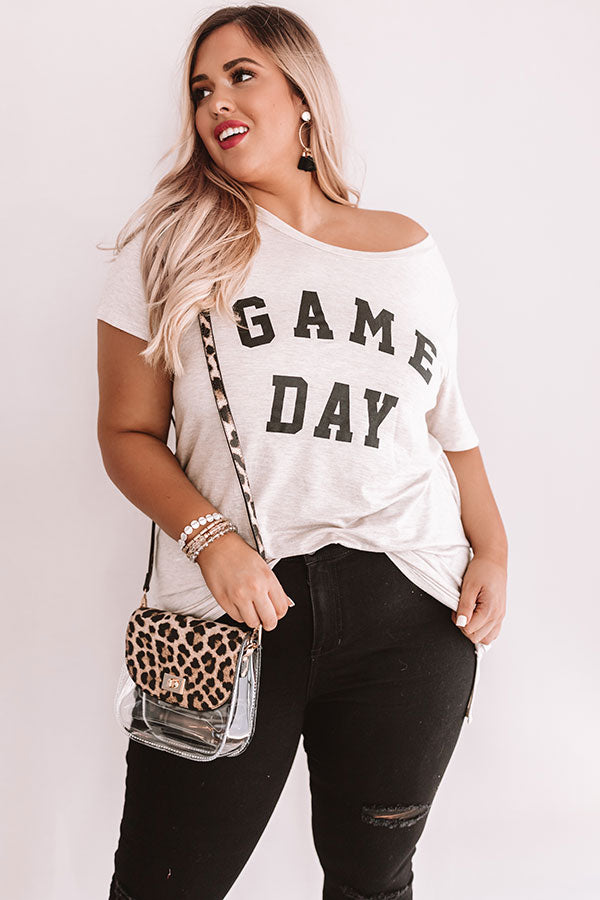 Game Day Boyfriend Tee In Birch