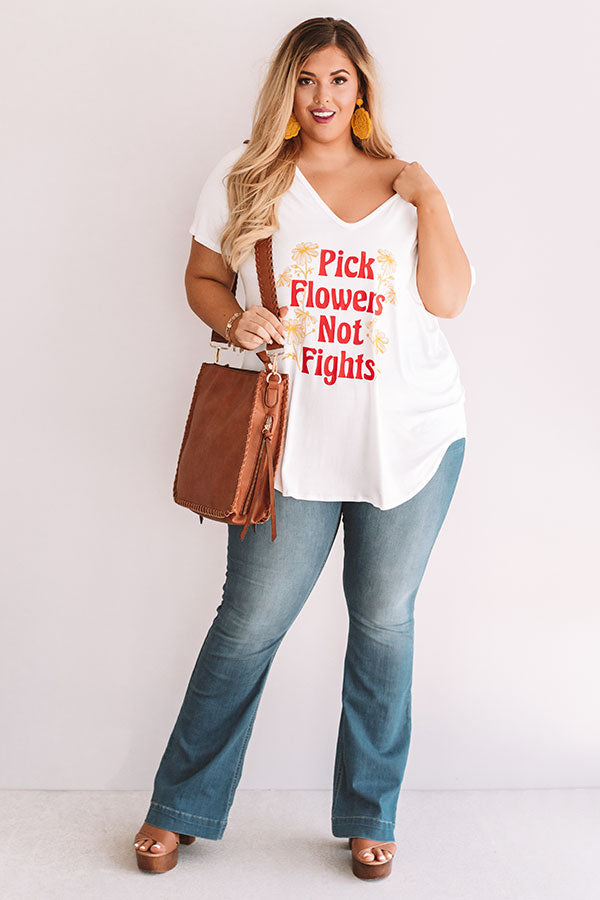 Pick Flowers Not Fights Shift Tee