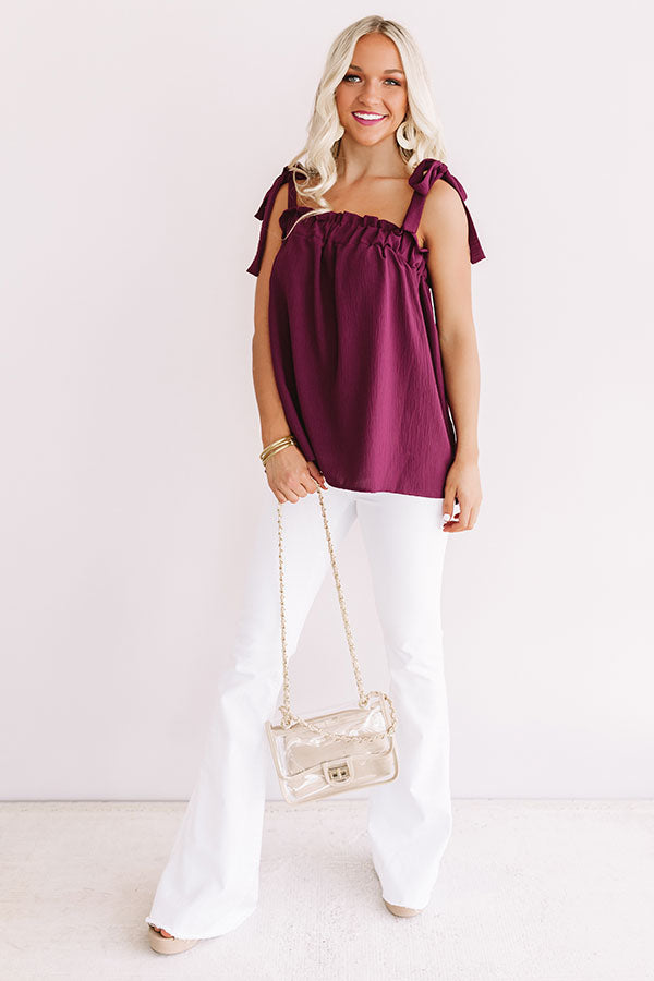 Suite With A View Shift Tank In Merlot