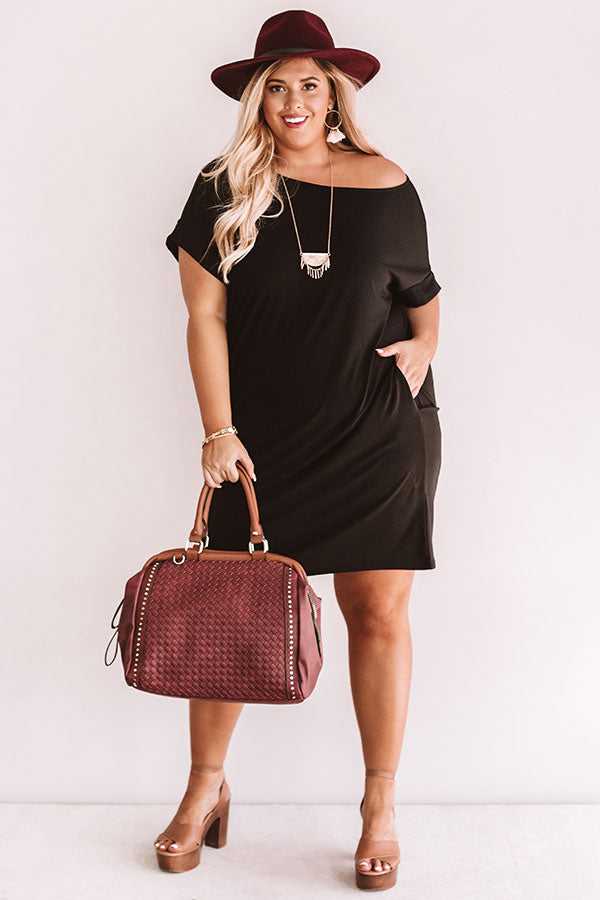 Hyde Park T-Shirt Dress In Black