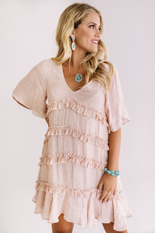 Denver Coffee Date Shift Dress In Blooming Dahlia