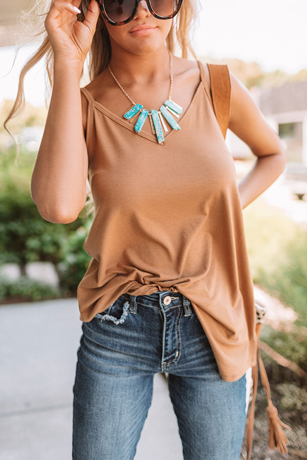 Kisses On The Coast Shift Tank In Copper