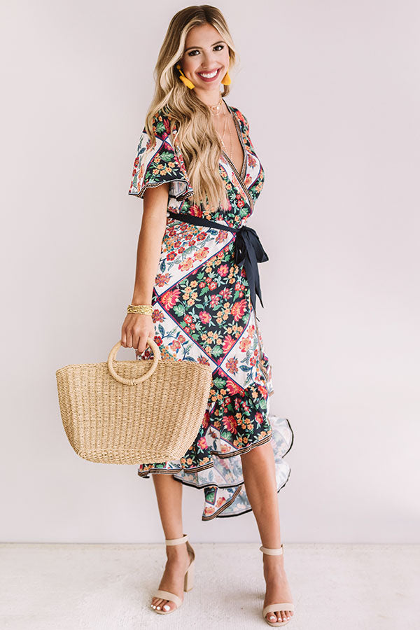 Patios And Prosecco Floral Dress
