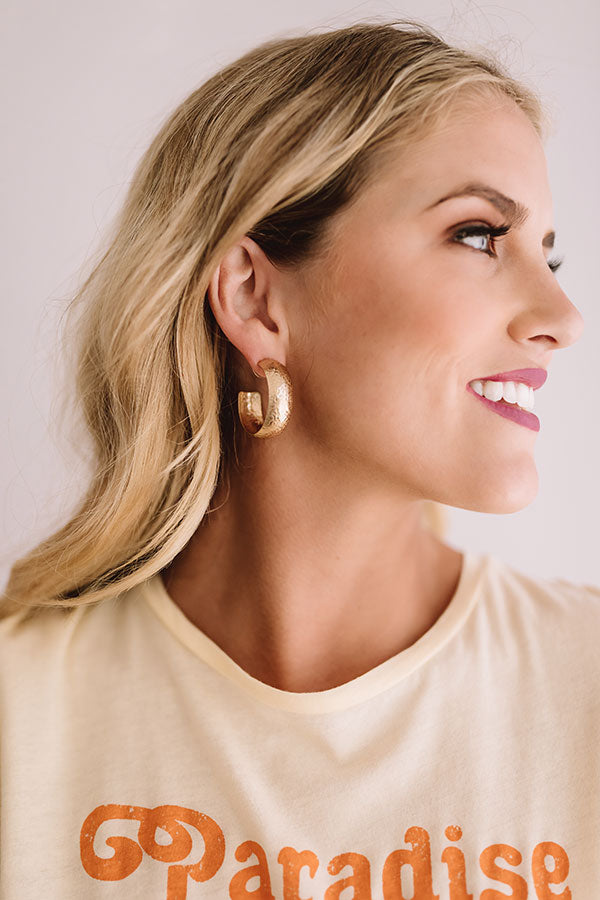 Weekend In NYC Hoop Earrings In Gold