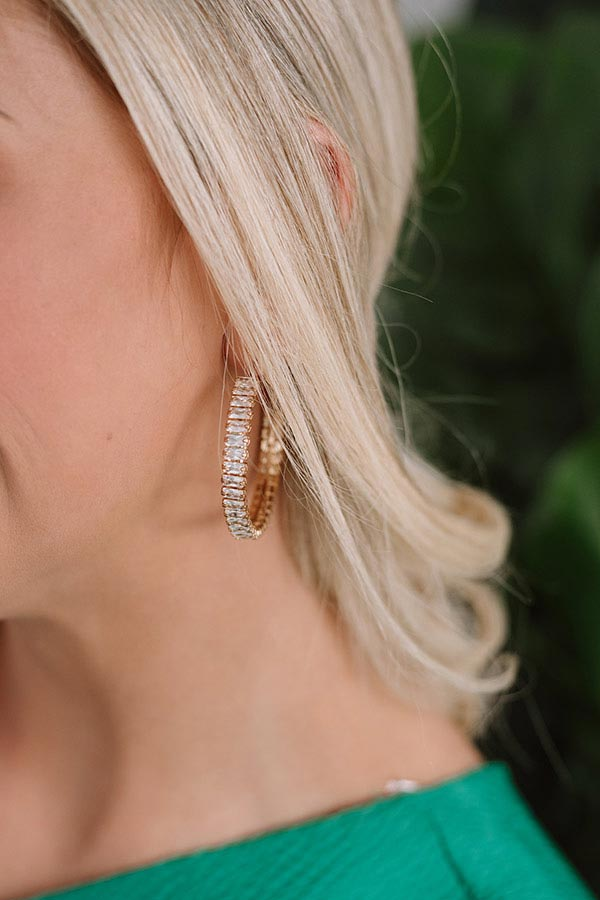 Set For Success Hoop Earrings In Gold
