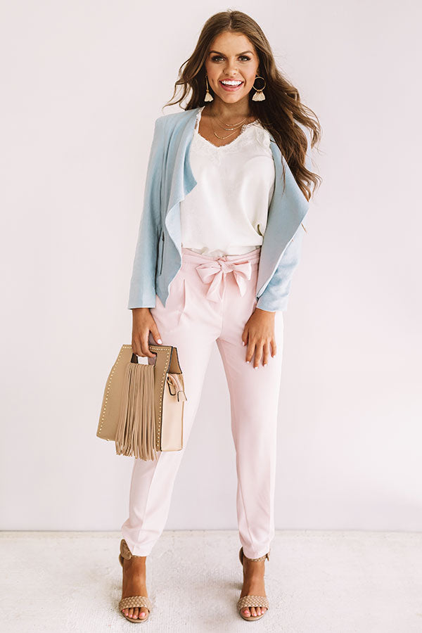 Adventure Abroad Blazer In Light Airy Blue