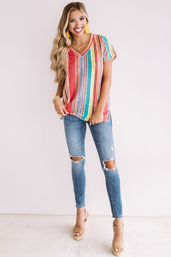 Carnival Stripe Shift Top