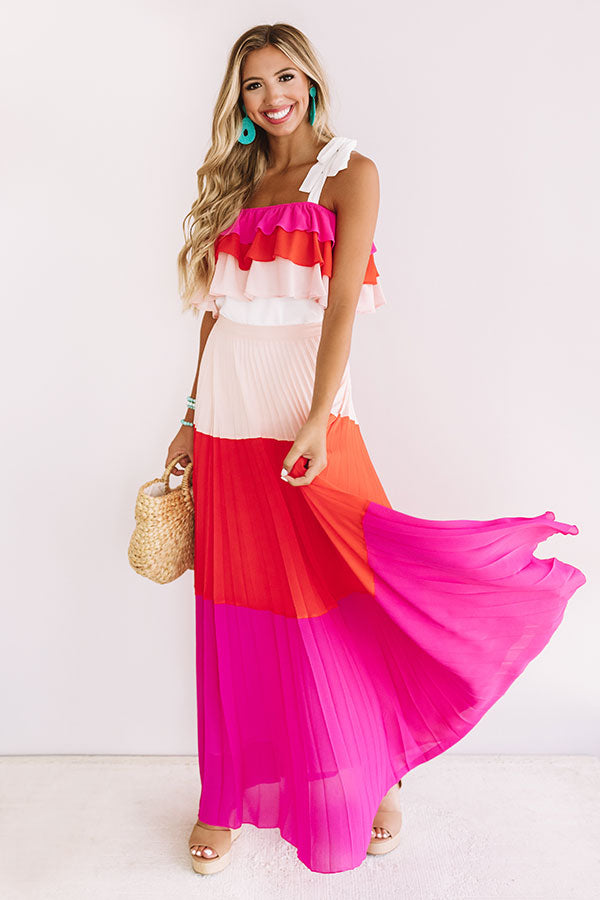 Swaying Slowly Pleated Skirt