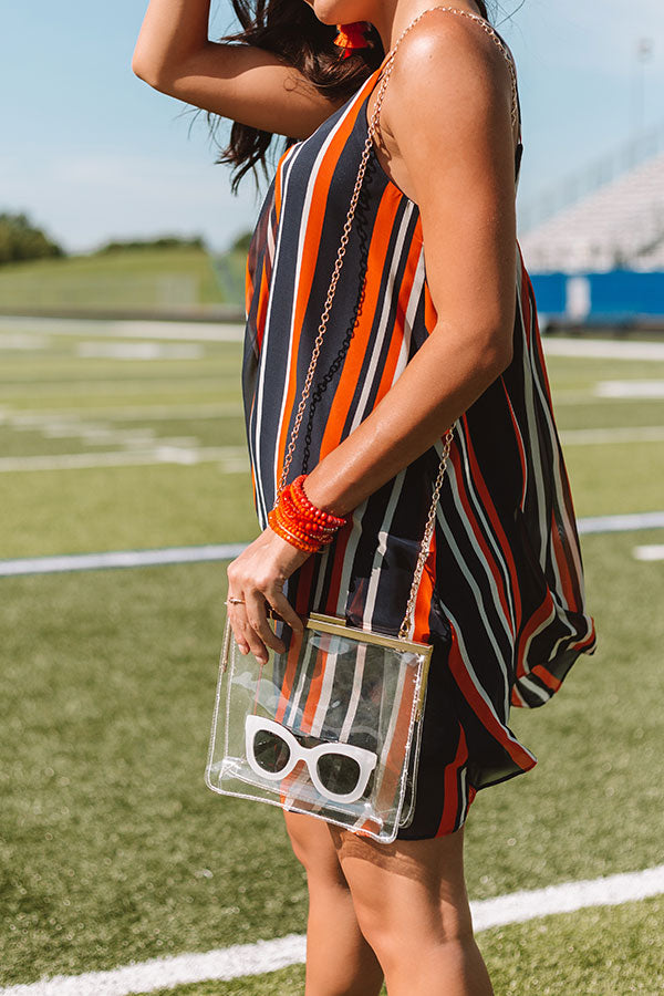 Champs And Cheers Transparent Crossbody