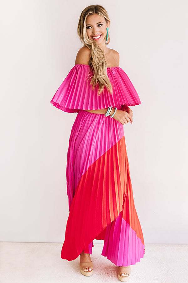 Pass The Champagne Pleated Maxi