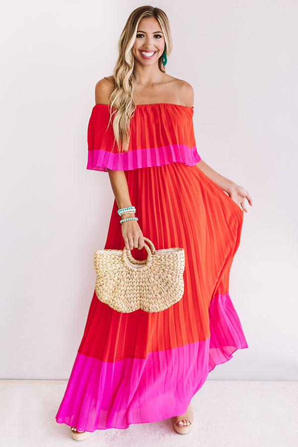 Better In Bali Pleated Maxi