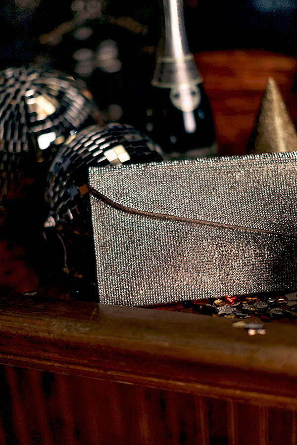 Hollywood Happenings Rhinestone Clutch in Gold