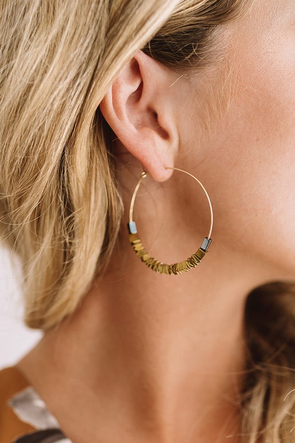 Hall Of Fame Earrings In Gold