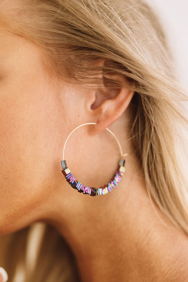 Hall Of Fame Earrings In Iridescent