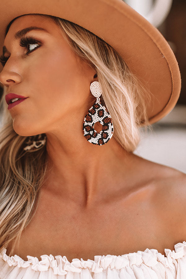 Bombshell Brunch Leopard Earrings