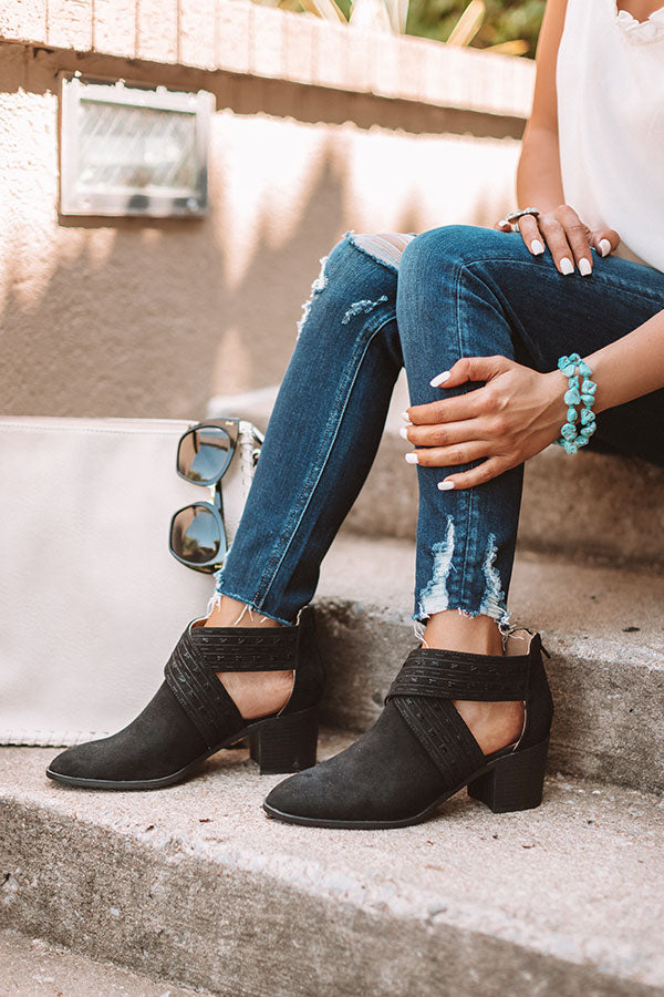 The June Bootie In Black
