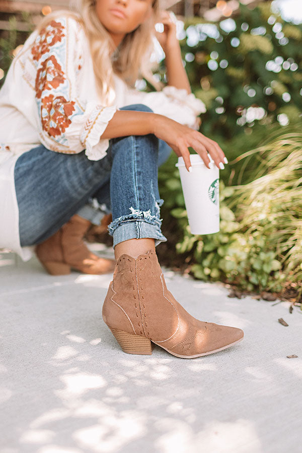 The Posey Bootie In Brown