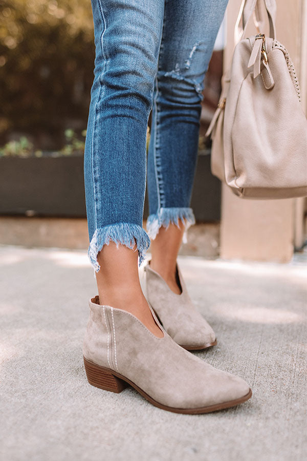 The Archer Bootie In Taupe