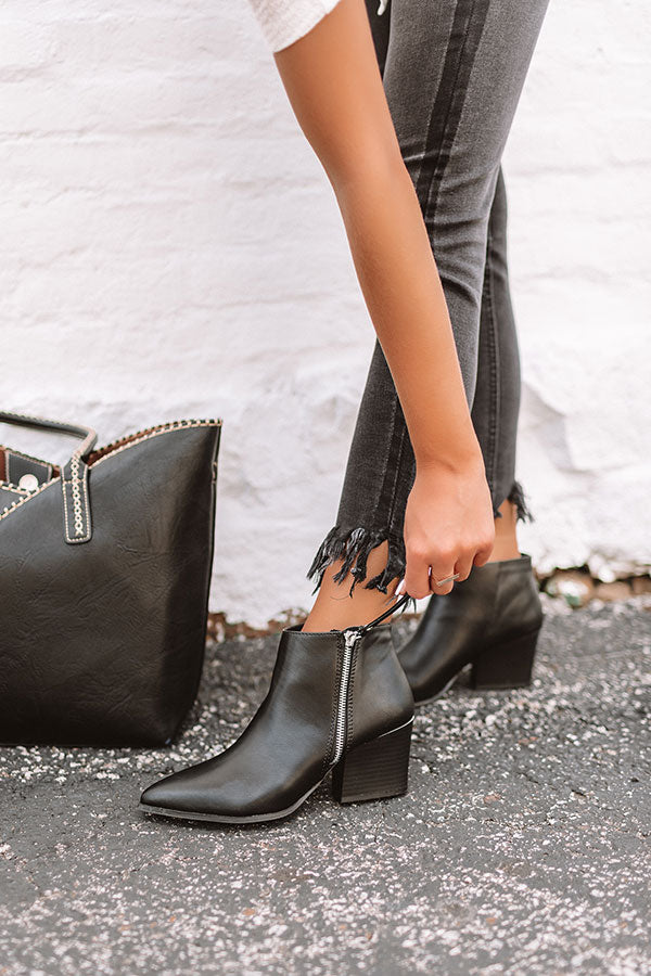 The Cassandra Bootie In Black