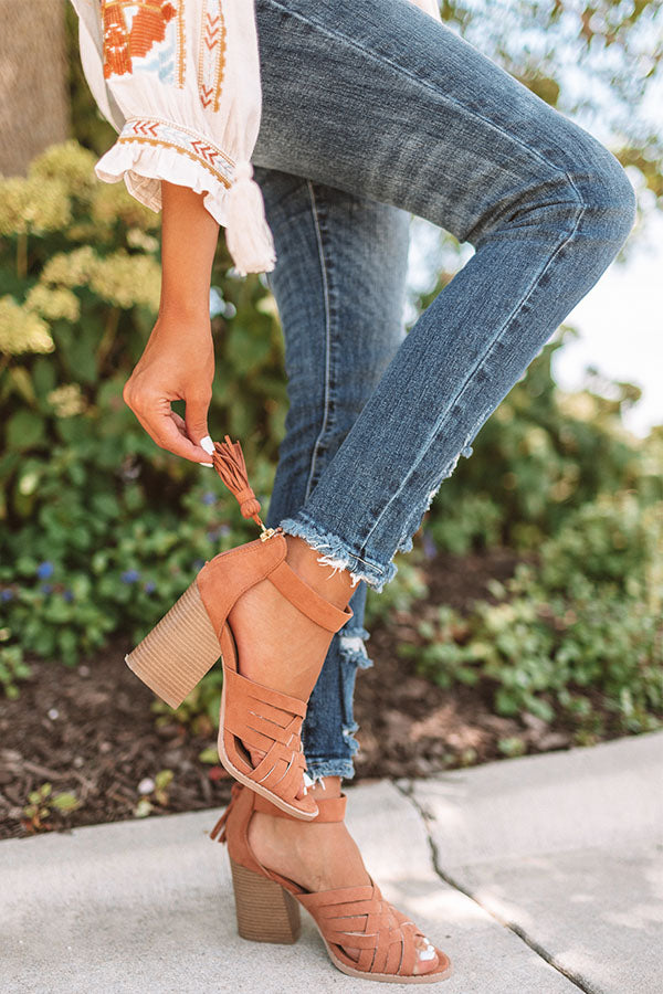 The Sienna Heel In Cinnamon