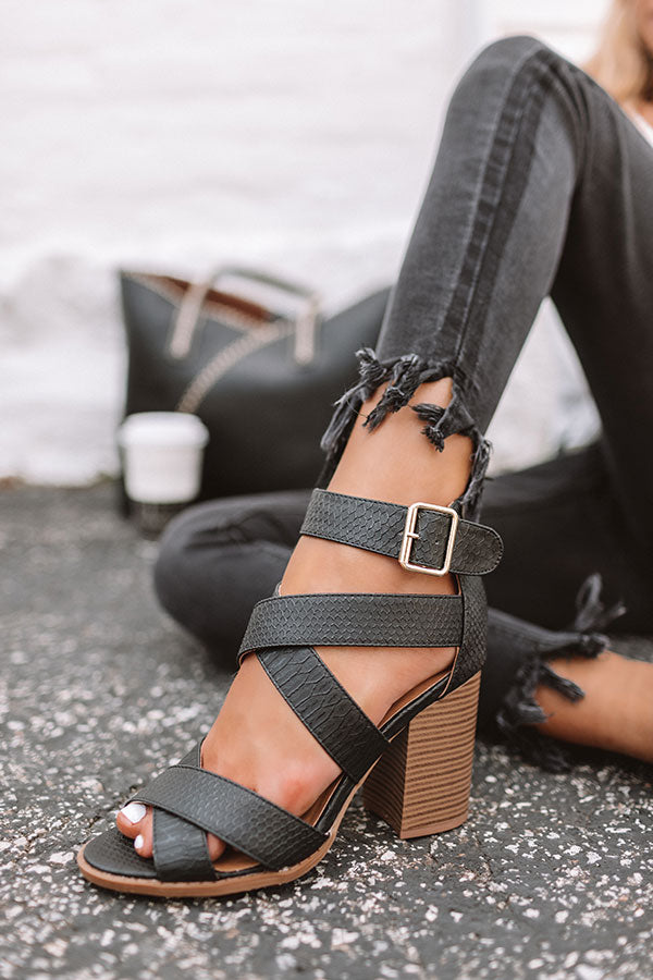 The Ridley Heel In Black