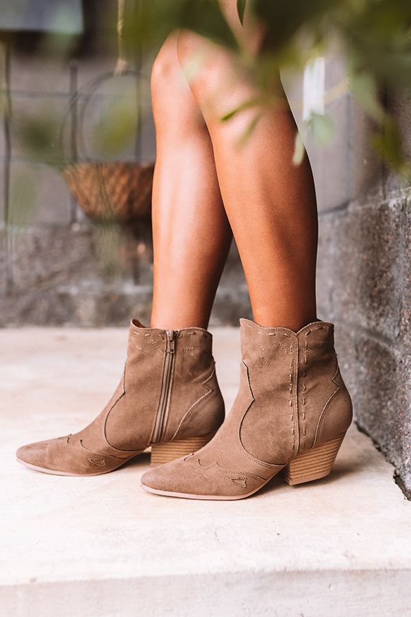 The Posey Bootie In Dark Taupe