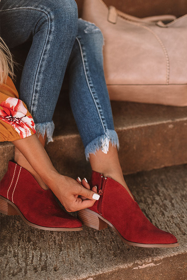 The Archer Bootie In Aurora Red