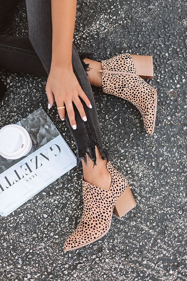 The Marie Leopard Bootie