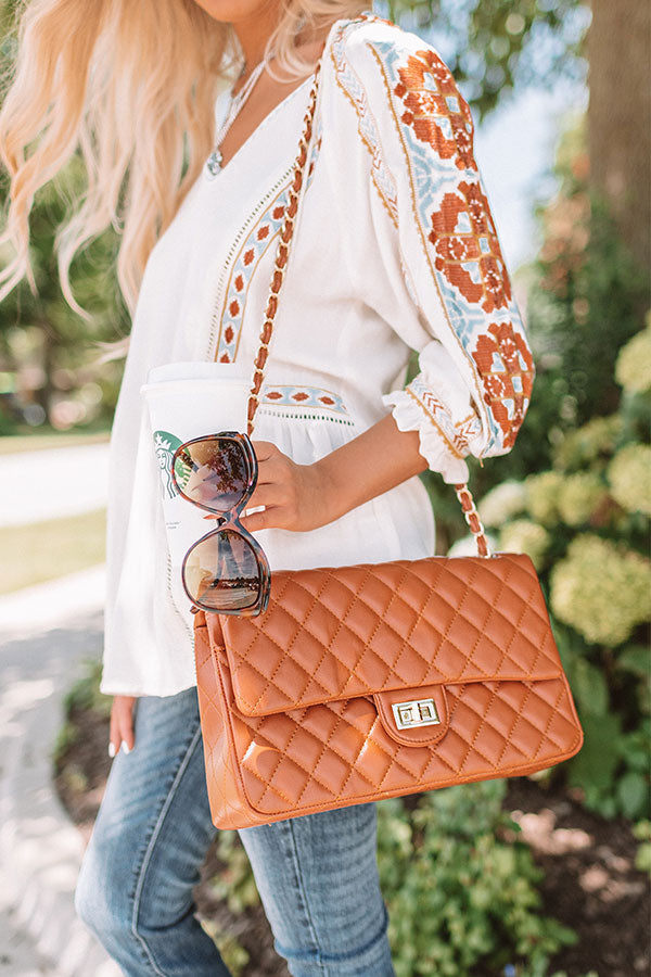 Set For Success Quilted Crossbody In Maple