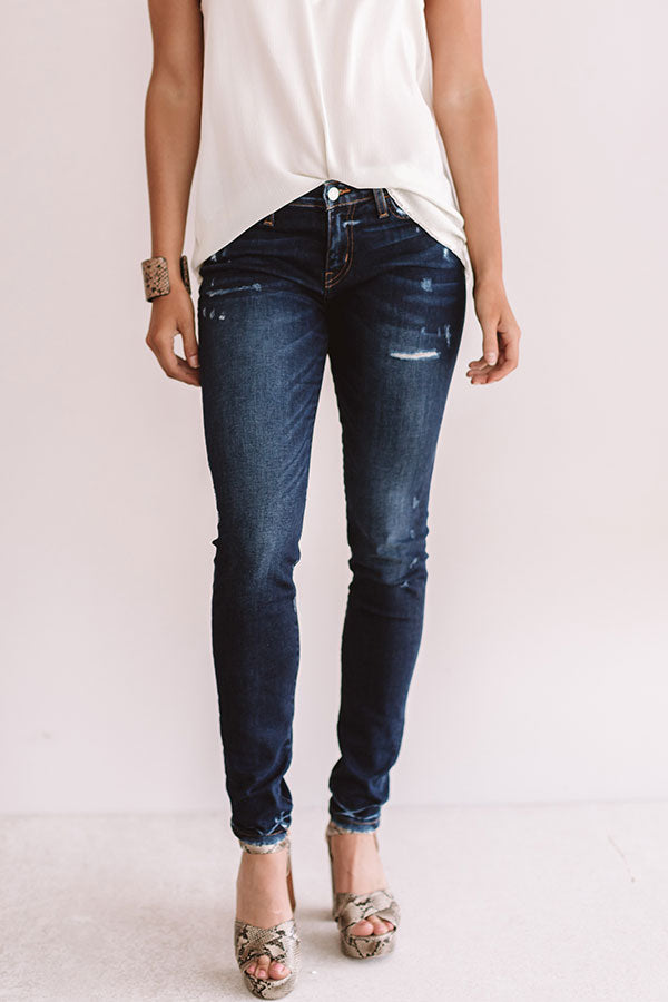 The Ridley Mid Rise Distressed Skinny