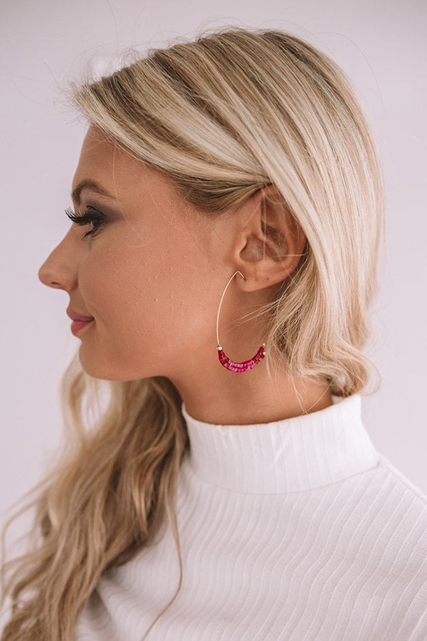 On Point Earrings In Hot Pink