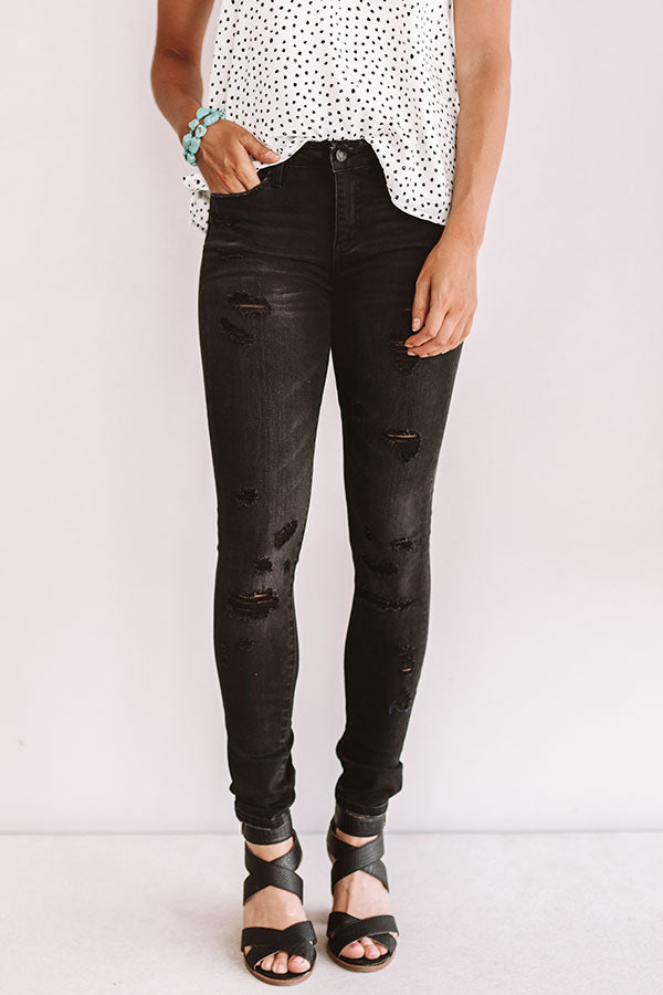 The Marie Mid Rise Distressed Skinny