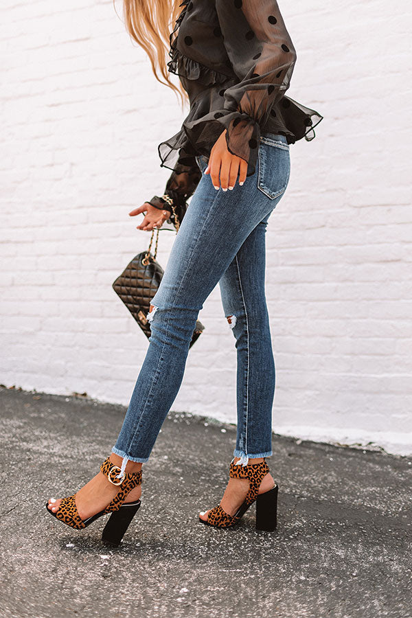 The Jess High Waist Distressed Ankle Skinny