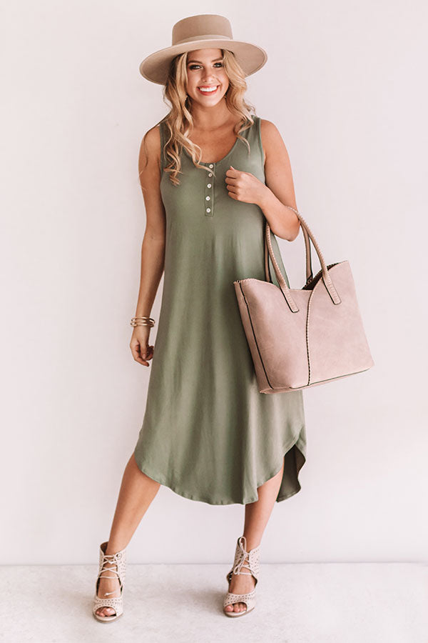 Haute Destination T-Shirt Midi In Sage