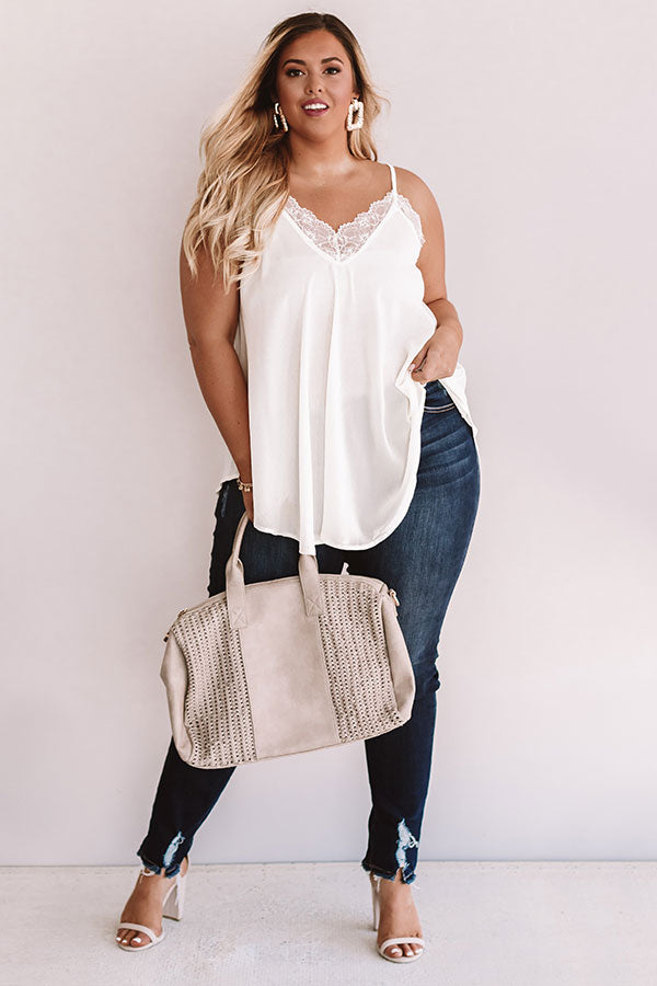 Swooning In The City Shift Tank in Ivory