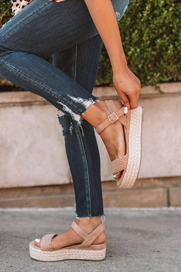 The Kiki Espadrille In Iced Latte