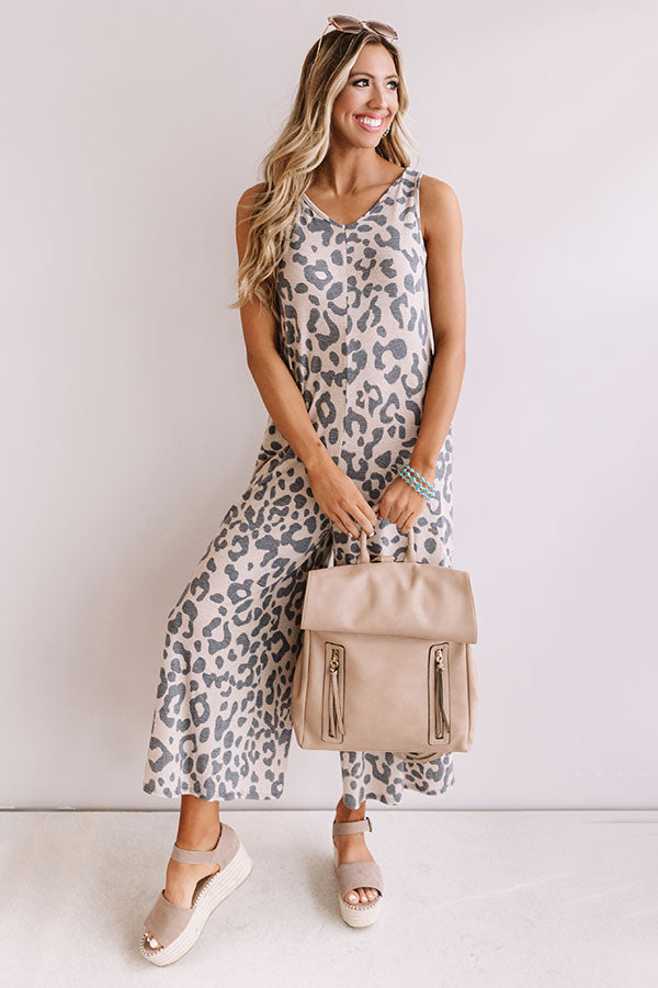 Make Me Swoon Leopard Jumpsuit