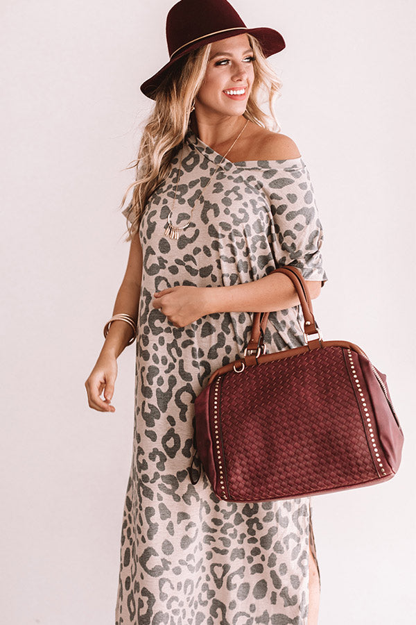 Make Me Swoon Leopard Maxi