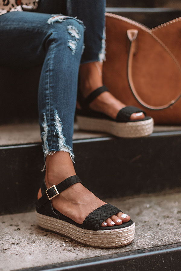 The Kiki Espadrille In Black