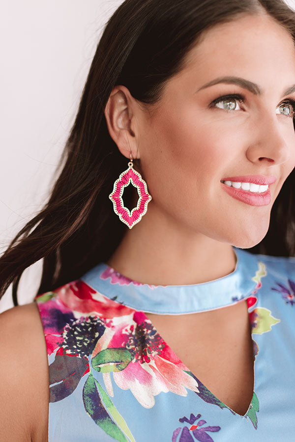 Chic Style Earrings In Pink