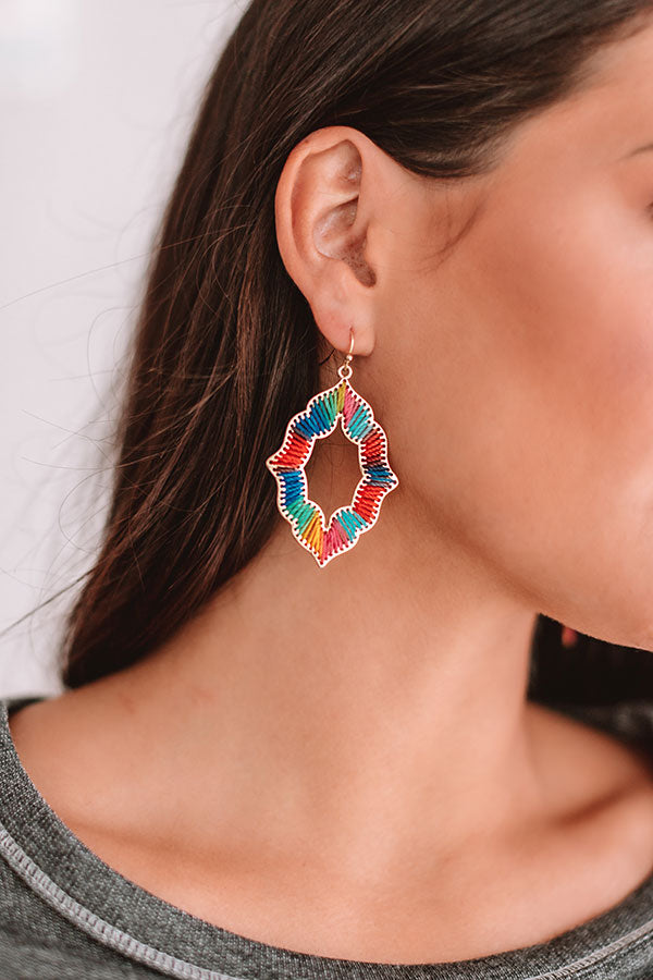 Chic Style Earrings In Multi