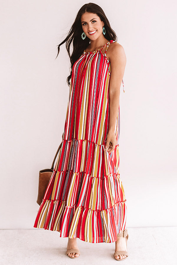 So Meant To Be Stripe Maxi In Red