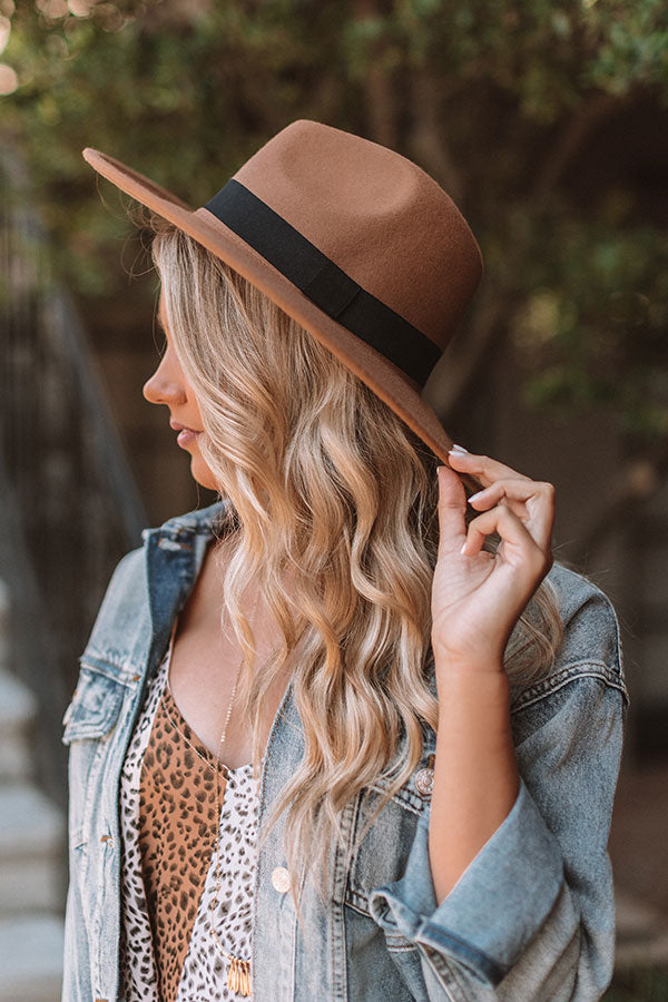 Vintage Vibes Felt Hat In Tan