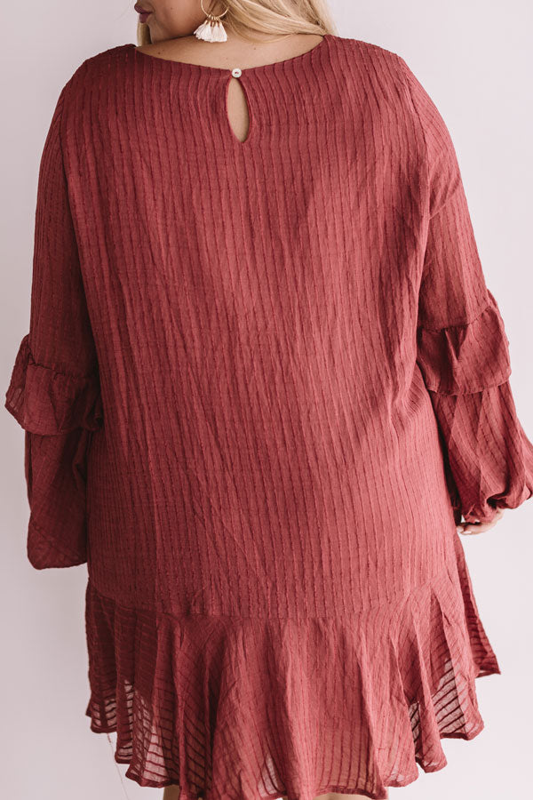 Colorado Casual Shift Dress In Rustic Wine
