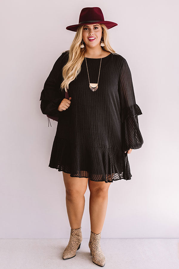 Colorado Casual Shift Dress In Black