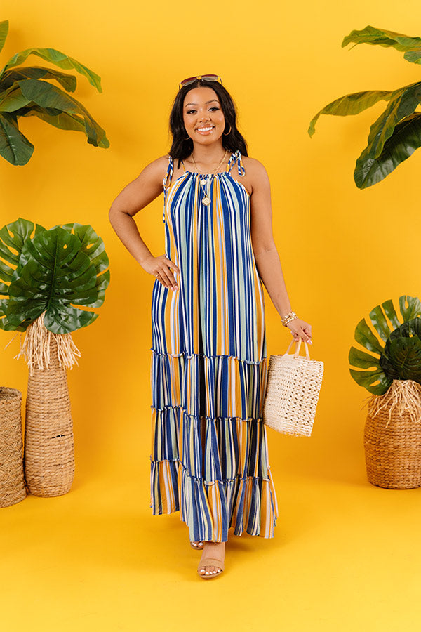 So Meant To Be Stripe Maxi In Blue